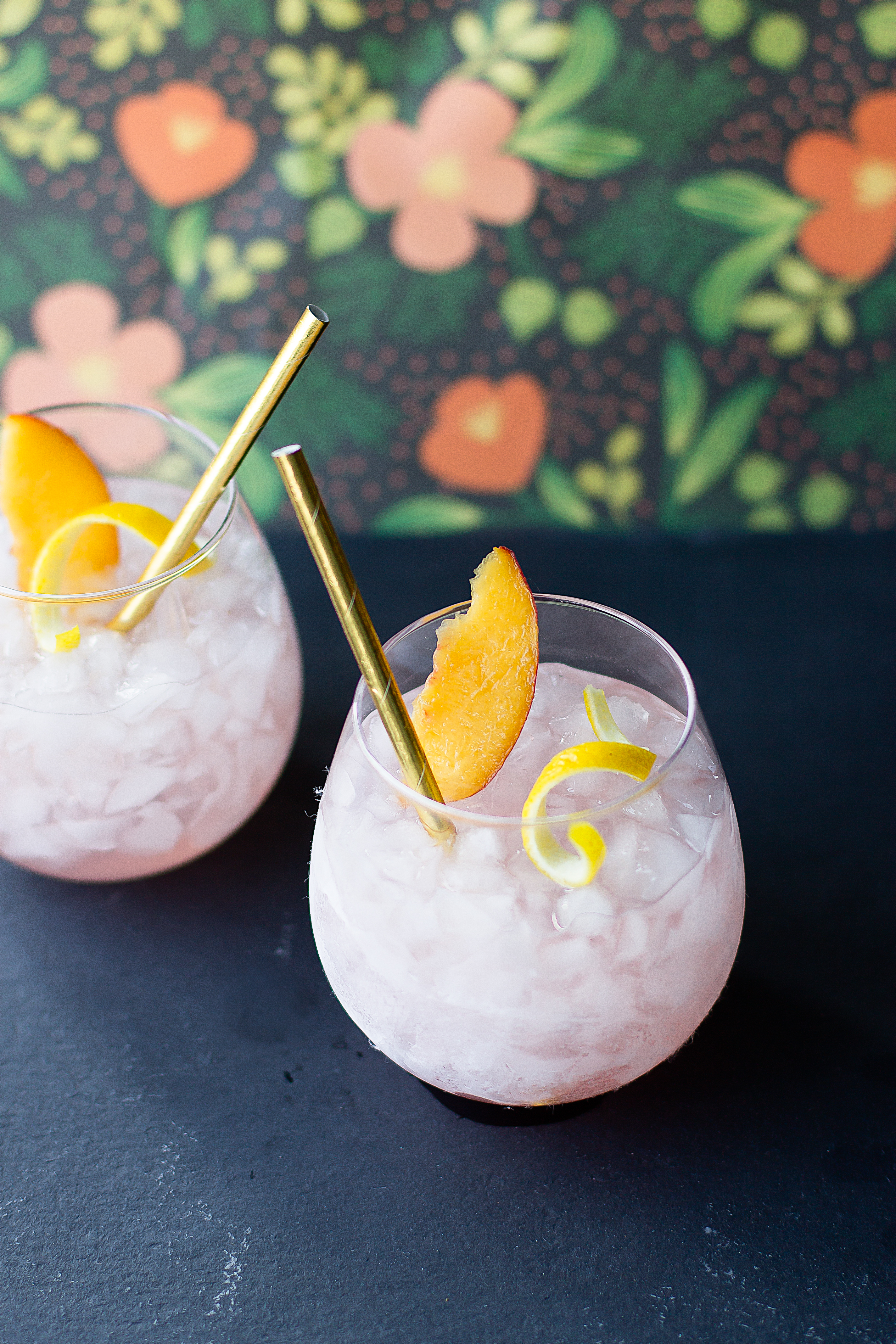 Peach Cardamom Vodka Crush Cocktail Recipe With Lime And