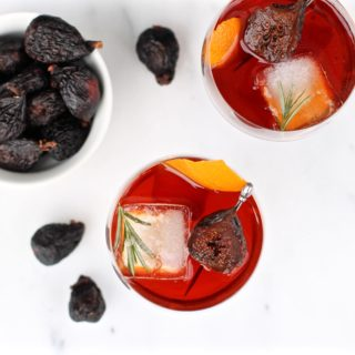 PORT POACHED FIG + ESPRESSO DIGESTIF