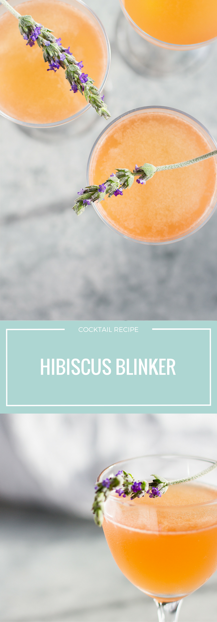 This Hibiscus Blinker is a fast and easy spring cocktail recipe. Only 3 ingredients: grapefruit, whiskey, and homemade hibiscus syrup! Click through for the recipe.