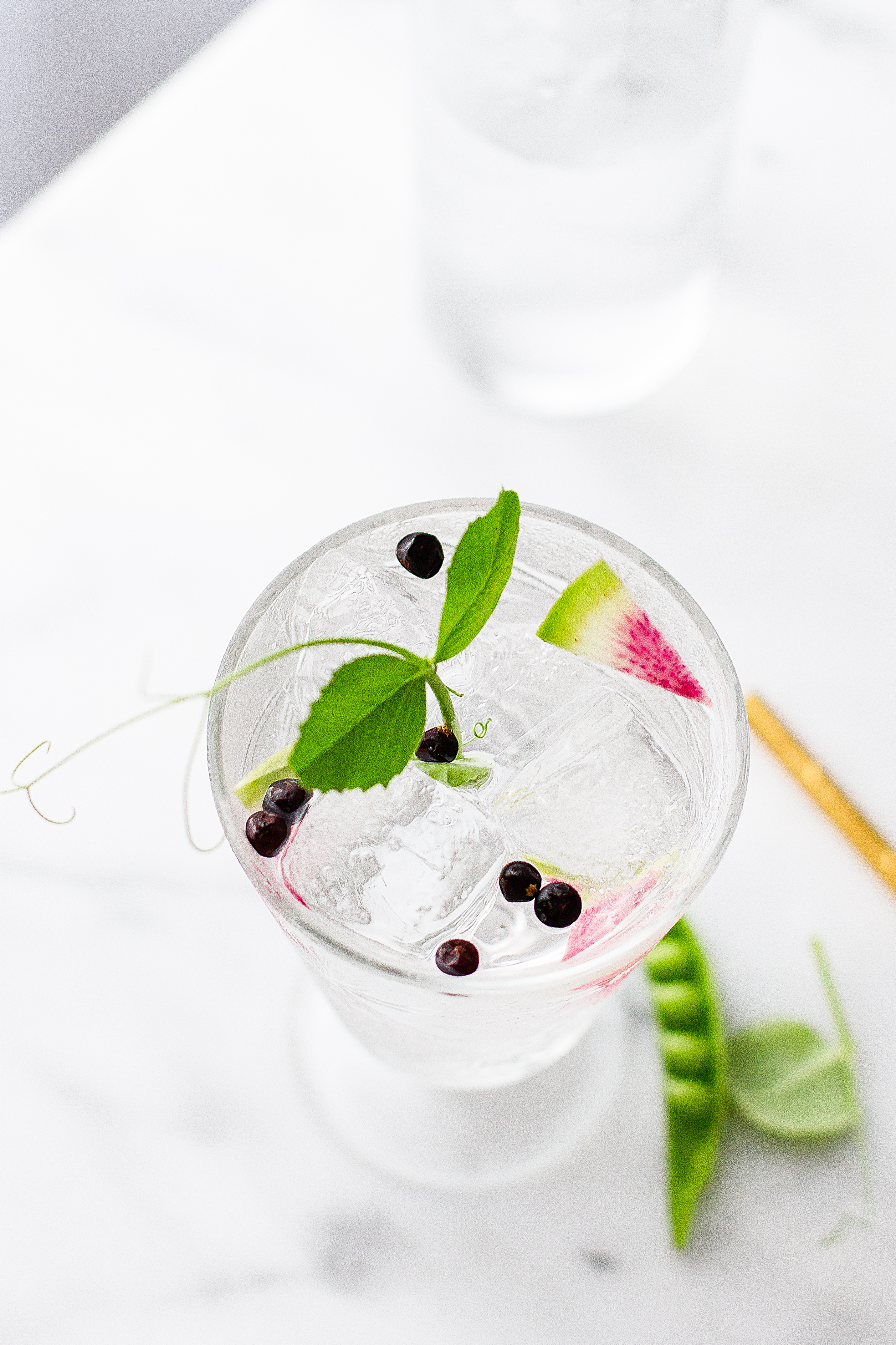 Spanish Gin & Tonic | Snap Pea | Watermelon Radish | Cocktail Recipe | Summer Drinks