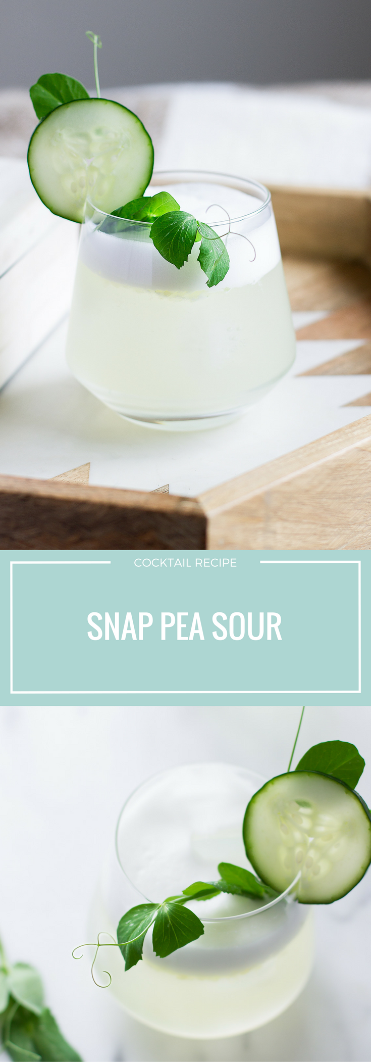 Spring Recipes | Snap Pea | Cocktail | Vodka | Ginger | Tonic | Lemon