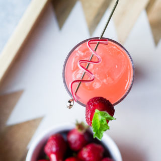 STRAWBERRY RHUBARB COCKTAILS WITH THE INSPIRED HOME