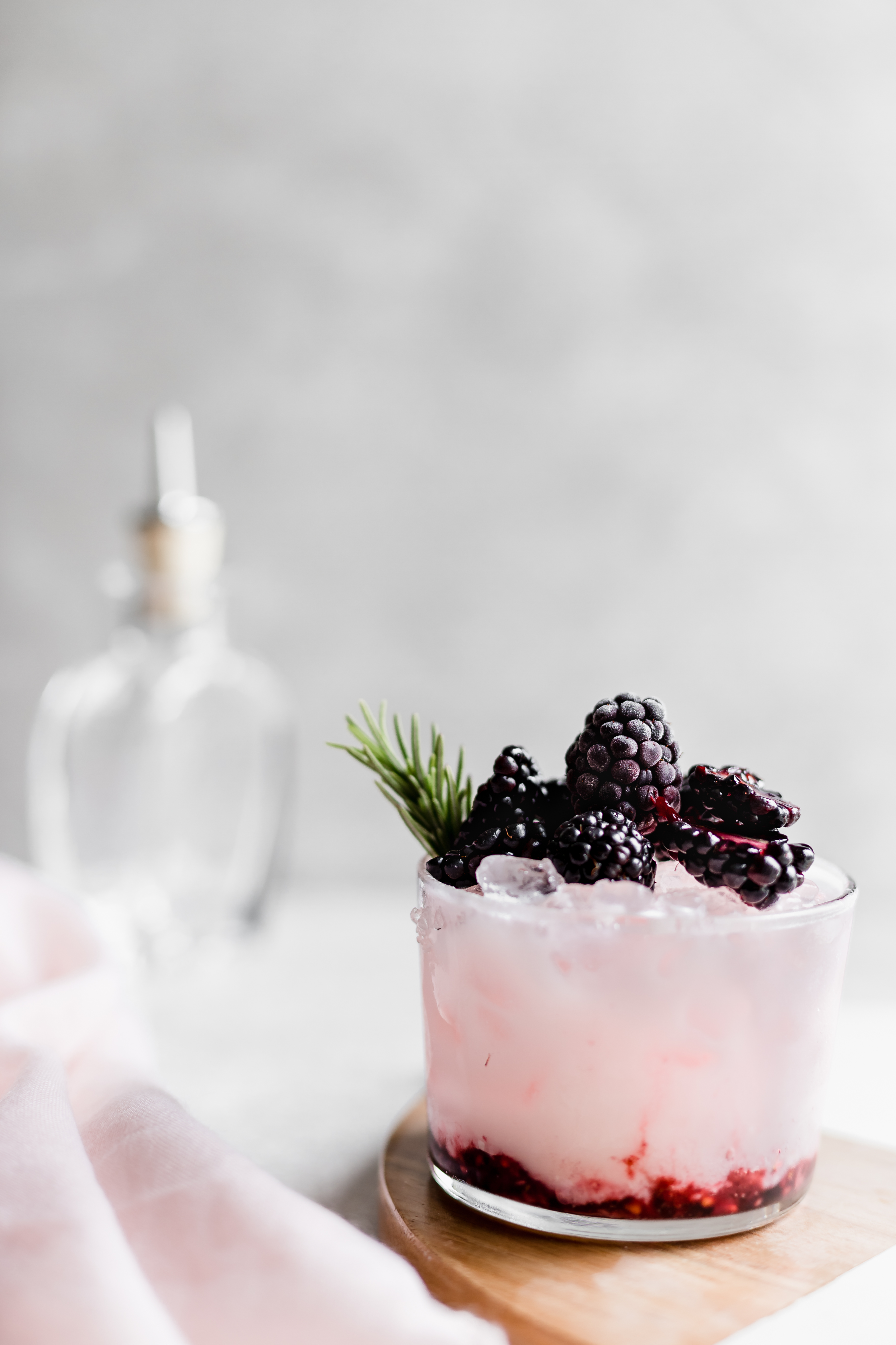 Spring Cocktails | Coconut Rosewater Blackberry Smash | Gin Recipe | Perfect for Bridal Shower, Wedding, or Bachelorette Party